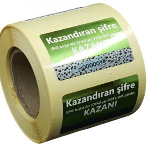 Kazı Kazan Etiket